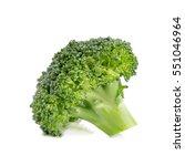 fresh broccoli isolated on... | Shutterstock . vector #551046964
