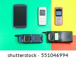old mobile phones used and... | Shutterstock . vector #551046994
