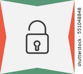padlock sign line vector icon.... | Shutterstock .eps vector #551048848
