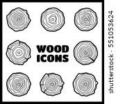 vector tree rings background... | Shutterstock .eps vector #551053624