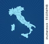 map of italy | Shutterstock .eps vector #551056948