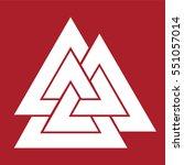 valknut symbol . vector... | Shutterstock .eps vector #551057014