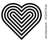 heart logo in black  vector... | Shutterstock .eps vector #551057416