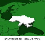 ukraine map 3d illustration | Shutterstock . vector #551057998