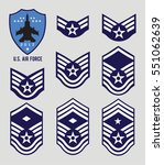 air force stripes  enlisted  | Shutterstock .eps vector #551062639
