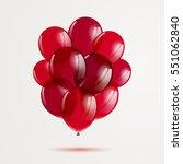 vector illustration of red... | Shutterstock .eps vector #551062840