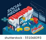 trends in social media 2017.... | Shutterstock .eps vector #551068393