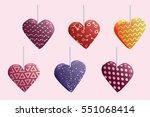 happy valentines day hearts set....   Shutterstock .eps vector #551068414
