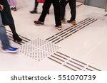 indoor tactile paving foot path ... | Shutterstock . vector #551070739