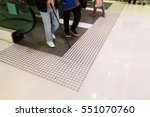 tactile paving path for the... | Shutterstock . vector #551070760