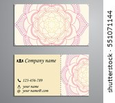 invitation  business card or...   Shutterstock .eps vector #551071144