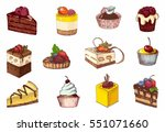 sketches of scrumptious... | Shutterstock .eps vector #551071660