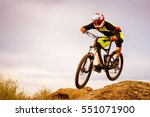 professional cyclist riding the ... | Shutterstock . vector #551071900