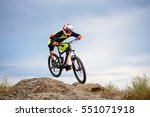 professional cyclist riding the ... | Shutterstock . vector #551071918