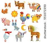 vector illustration of cute... | Shutterstock .eps vector #551072350