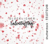 happy valentines day lettering... | Shutterstock .eps vector #551073148