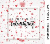 happy valentines day lettering...   Shutterstock .eps vector #551073196