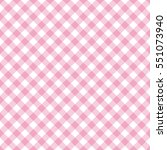 pink and white gingham... | Shutterstock .eps vector #551073940