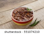 kidney beens with gravy in a... | Shutterstock . vector #551074210