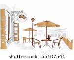 street cafe | Shutterstock .eps vector #55107541