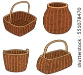vector set of wicker baskets | Shutterstock .eps vector #551078470