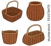 vector set of wicker baskets | Shutterstock .eps vector #551078470
