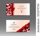 happy valentine's day vector... | Shutterstock .eps vector #551079724