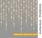 glowing glitter light effects... | Shutterstock .eps vector #551084104