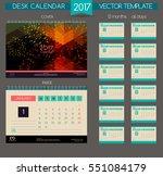 design desk calendar 2017.... | Shutterstock .eps vector #551084179