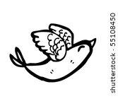 bird cartoon | Shutterstock .eps vector #55108450