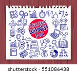 strategic business plan icons... | Shutterstock .eps vector #551086438