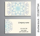 invitation  business card or... | Shutterstock .eps vector #551087764