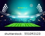 sports stadium with lights  eps ... | Shutterstock .eps vector #551092123