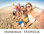 group of multiracial happy... | Shutterstock . vector #551093116
