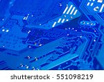 closeup to differential pair on ... | Shutterstock . vector #551098219
