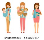 three happy mothers with... | Shutterstock .eps vector #551098414