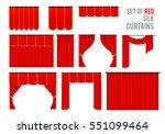 luxury scarlet red silk velvet... | Shutterstock .eps vector #551099464