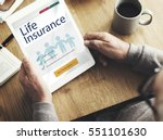 life insurance health... | Shutterstock . vector #551101630