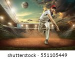 baseball players in action on... | Shutterstock . vector #551105449