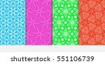 set of color decorative floral... | Shutterstock .eps vector #551106739