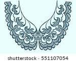 embroidery collar lace fashion... | Shutterstock . vector #551107054