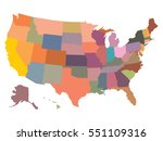usa map | Shutterstock .eps vector #551109316