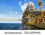 offshore construction platform... | Shutterstock . vector #551109940