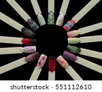 nail art handmade samples... | Shutterstock . vector #551112610