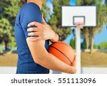 shot of a basketball player... | Shutterstock . vector #551113096