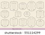 big vector set of vintage... | Shutterstock .eps vector #551114299