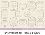 big vector set of vintage... | Shutterstock .eps vector #551114308