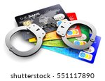 creative abstract banking fraud ...   Shutterstock . vector #551117890