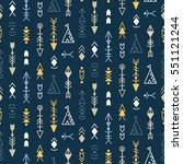vector tribal seamless pattern...   Shutterstock .eps vector #551121244