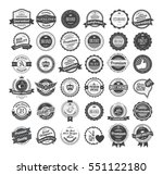 vintage labels and logotypes... | Shutterstock .eps vector #551122180